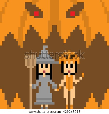 pixel art halloween costume