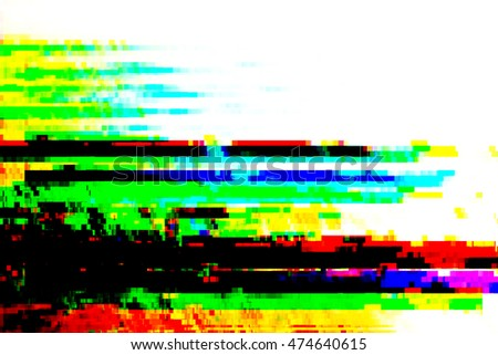 Pixel glitch.glitch abstract digital art for background