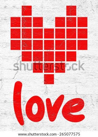 Pixel love - stock photo