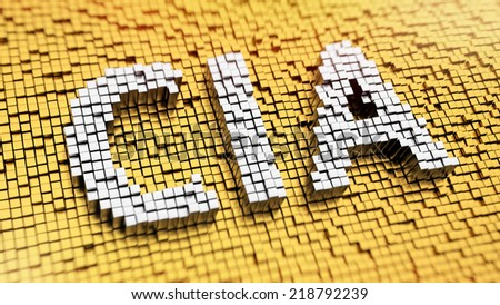 Pixelated acronym CIA made from cubes, mosaic pattern - stock photo