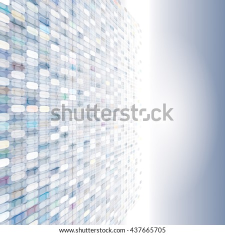 Pixels design perspective abstract background. - stock photo