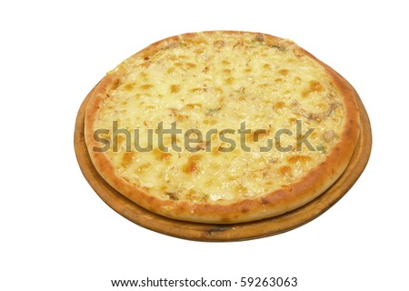 Pizza and italian kitchen. Studio. Close-up on white background. clipping Path