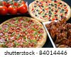 pizza and wings combo - stock photo