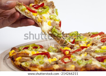 pizza background - stock photo