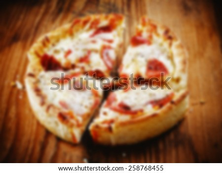 Pizza Blur - stock photo