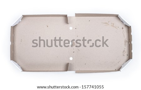 Pizza box isolated on white background - stock photo