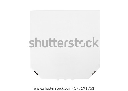 Pizza box isolated on white background - stock photo