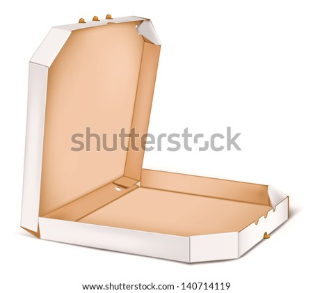 Pizza box. Rasterized illustration. Vector version in my portfolio - stock photo