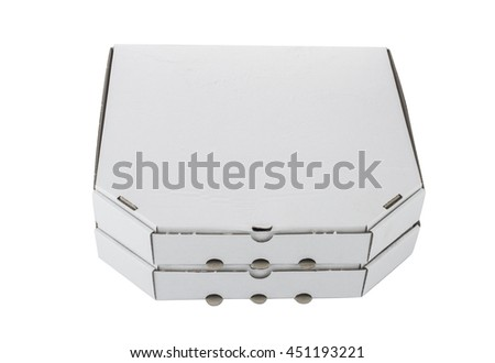 Pizza box template isolated on white background