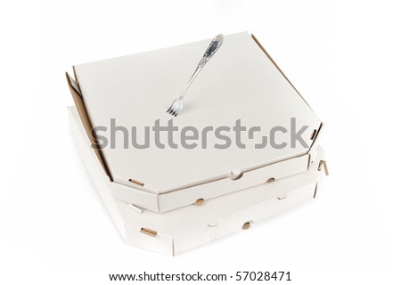 pizza box with fork
