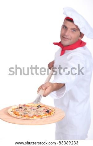 Pizza chef - stock photo
