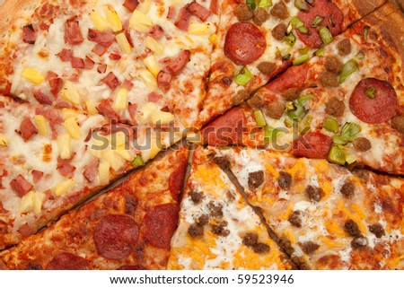 Pizza close up for background