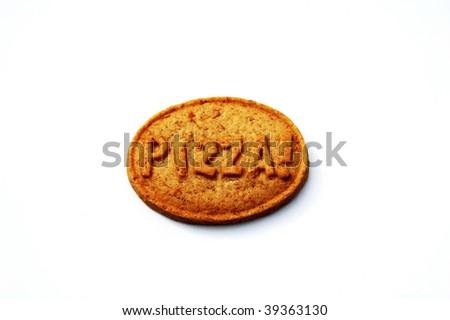pizza cookie - stock photo