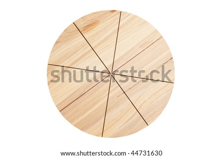 Pizza cutting board  isolated on a white background