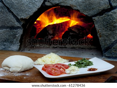 Pizza ingredients for wood fired pizza