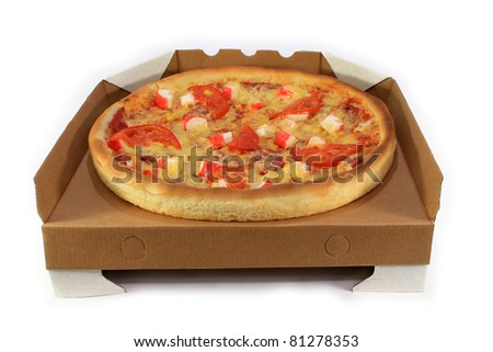 pizza isolated