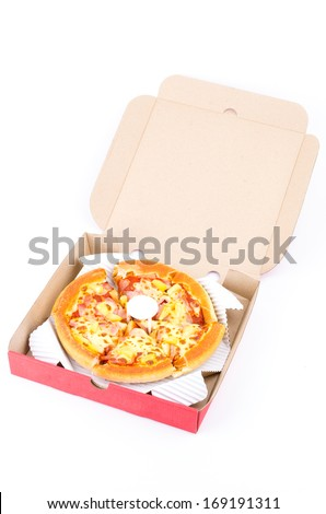 Pizza isolated white background