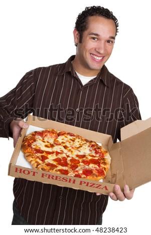 Pizza Man - stock photo