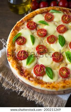 Pizza Margherita - stock photo