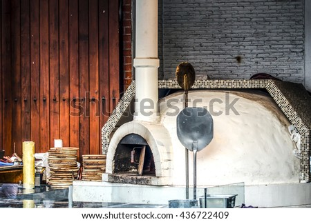 Brick oven oven pizza woodfired
