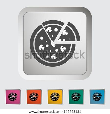 Pizza. Single icon. Vector version also available in my portfolio. - stock photo