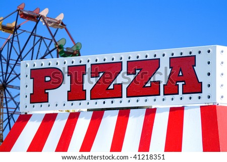 Pizza Stand At Local State Fair