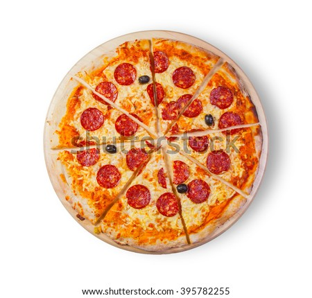 Pizza. This picture is perfect for you to design your restaurant menus. Visit my page. You will be able to find an image for every pizza sold in your cafe or restaurant.  - stock photo