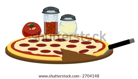Pizza Time - stock photo
