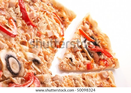 Pizza with champignons