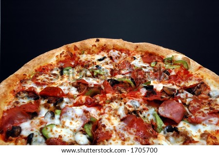 Pizza with Everything - stock photo