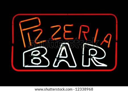 pizzeria and bar - stock photo