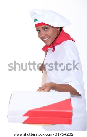Pizzeria chef - stock photo