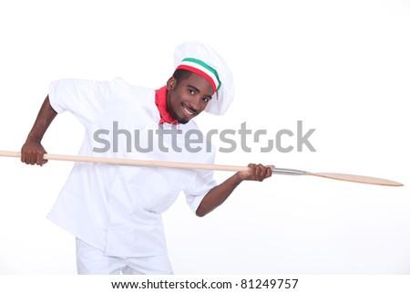 Pizzeria worker - stock photo