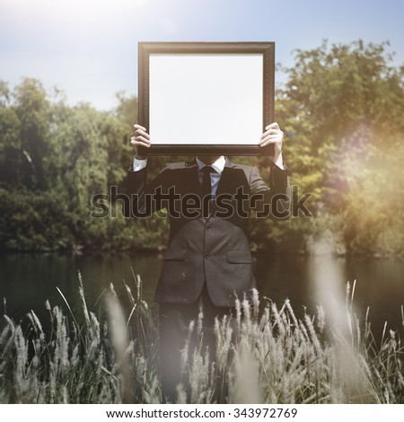 Placard Copyspace Advertisement Display Space Concept - stock photo