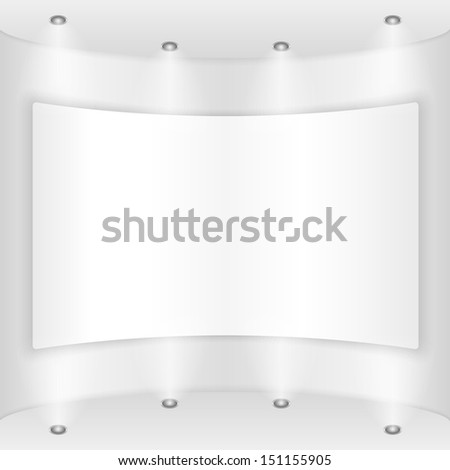 Placard on a round wall - stock photo