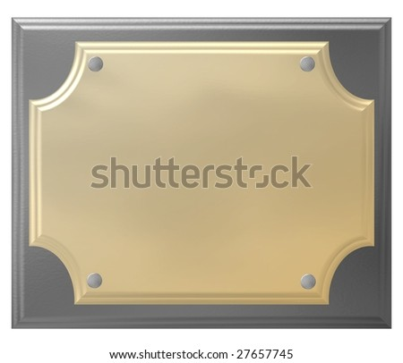 Placard with clipping path
