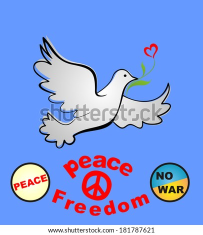 Placard with peace symbolic. Raster copy - stock photo