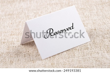 Place card - stock photo