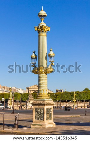 Place de la Concorde square, Paris, France - stock photo