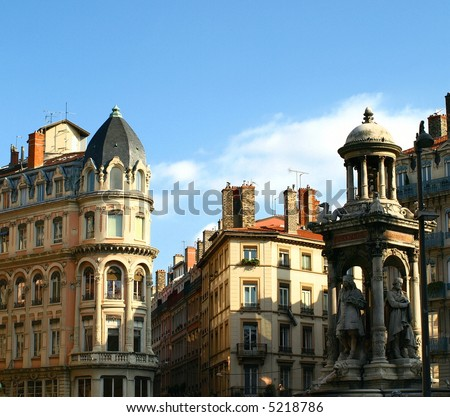 place des jacobins at lyon in france - stock photo