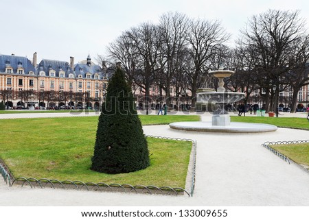 Place Des Vosges - oldest planned square in Paris