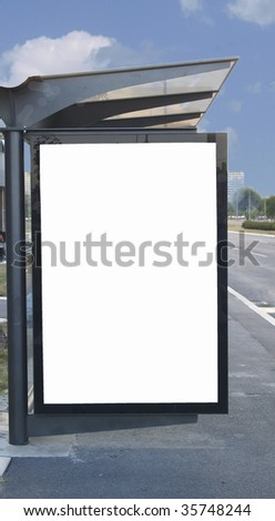 place for advertising - stock photo
