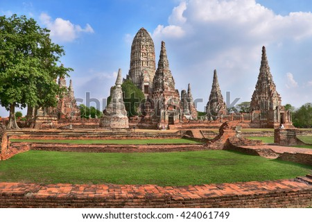 Place of worship, Wat Chaiwatthanaram is a Buddhist temples in Phra Nakhon Si Ayutthaya Province, Thailand