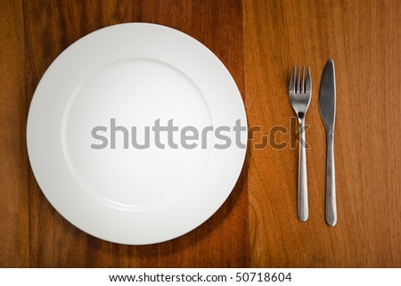 place setting and plate - stock photo