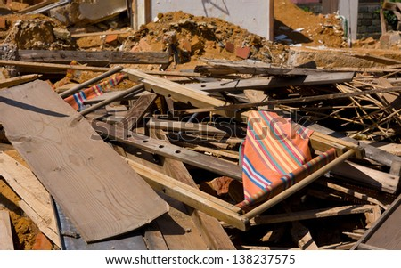 place where was a family house now after demolition - stock photo