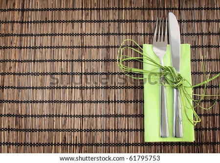 placemat - stock photo