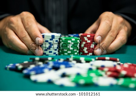 placing a bet in the game 3 - stock photo
