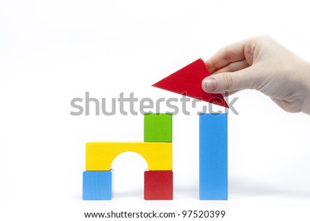 Placing the final piece - stock photo