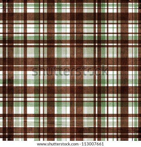 Plaid  background in grey, brown, white - stock photo