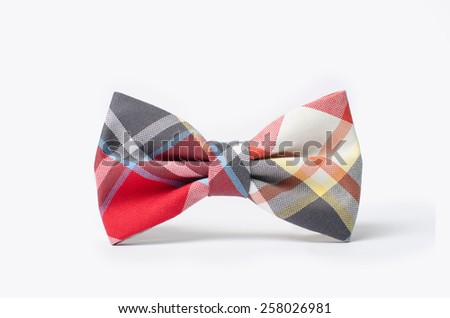 Plaid bow tie close up - stock photo